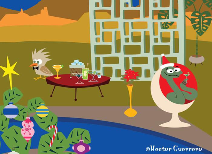 Desert gang Christmas hipster party
