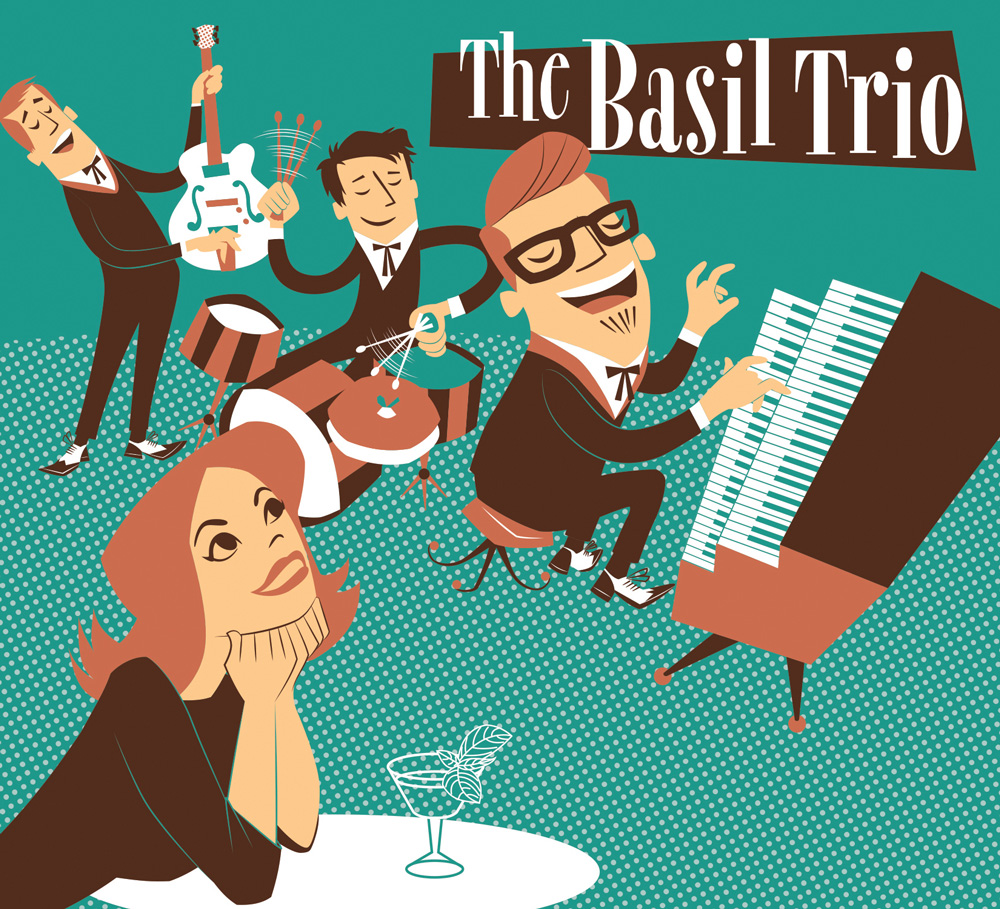 Basil Trio CD cover illustration